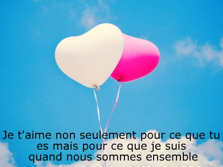 Coeur phrases d'Amour