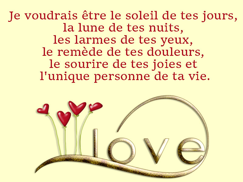 SMS d'amour poème